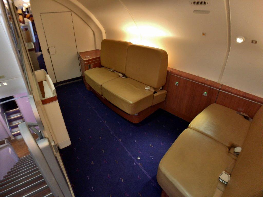 タイ航空ファーストクラス機内
