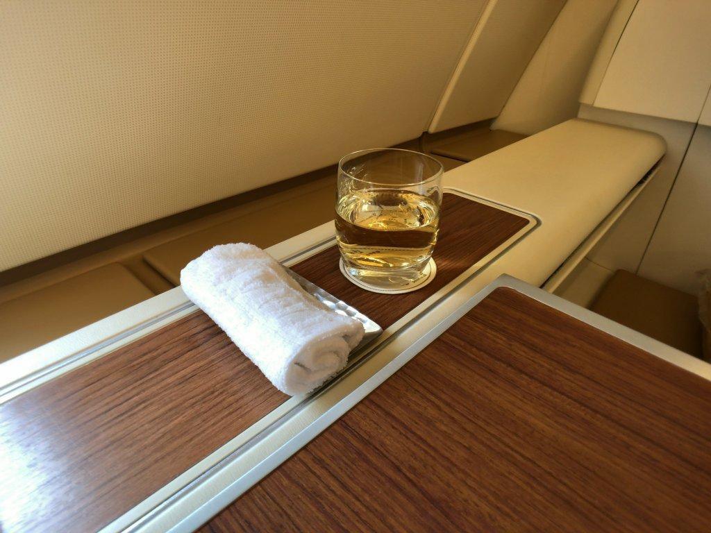 タイ航空ファーストクラス機内食