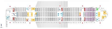 ANA A380 エコノミークラスシートマップ