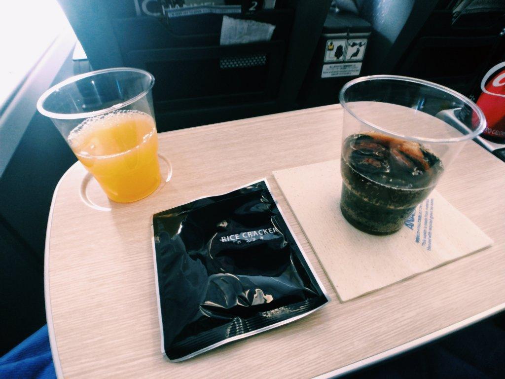 ANA A380プレミアムエコノミー 機内食
