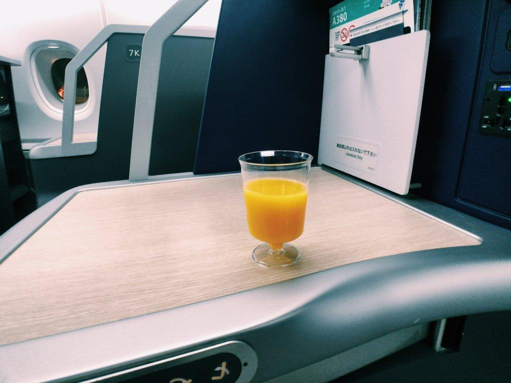 ANA ホノルル A380 ビジネスクラス
