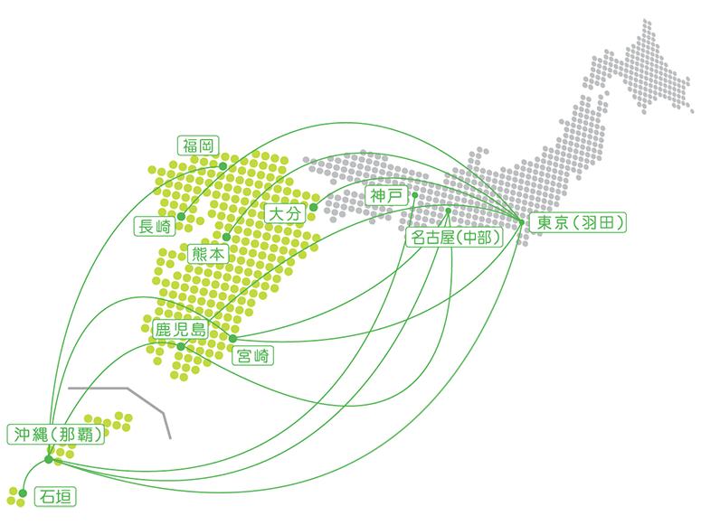 ソラシドエア路線図